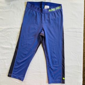 Nike Pro Athletic Purple Leggings